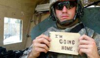 Coming home from the military after years of service