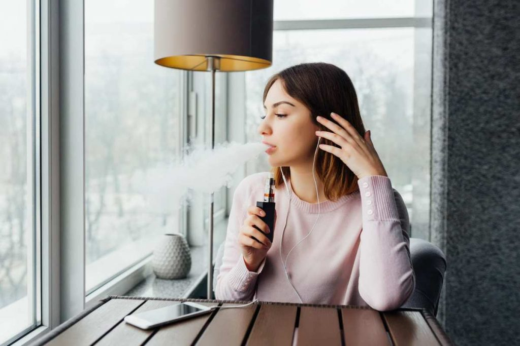 relaxing vaping experience